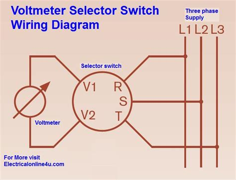 voltmeter selector switch wiring diagram for three phase electrical online 4u