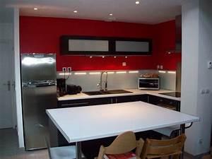 idee peinture cuisine ouverte kirafes With idee peinture salon cuisine ouverte