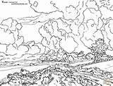 Coloring Jacob Wheat Ruisdael Fields Colorare Gogh Ausmalbilder Grano Printable Felder Disegno Supercoloring Starry Campo Weizen Vincent Ausmalbild Campi Colouring sketch template