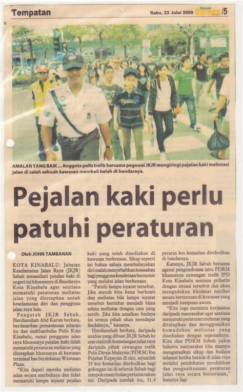 jabatan keselamatan jalan raya sabah keratan akhbar