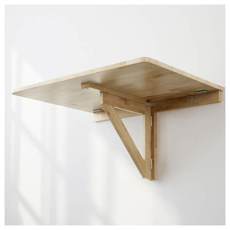 bureau muji norbo wall mounted drop leaf table birch 79x59 cm ikea
