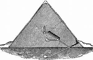 This Section Diagram Of The Great Pyramid At Giza Also