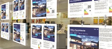 affiche vitrine agence immobiliere 28 images enseigne lumineuse led agence immobili 232 re