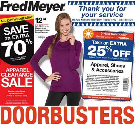 Fred Meyer Furniture Ad by Fred Meyer Doorbuster Sale November 11 Great Deals On