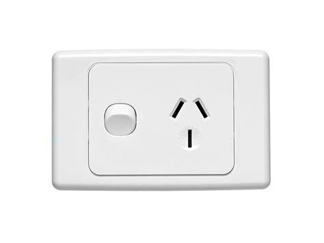 clipsal 2015 20 single switch socket outlet 250v 20a