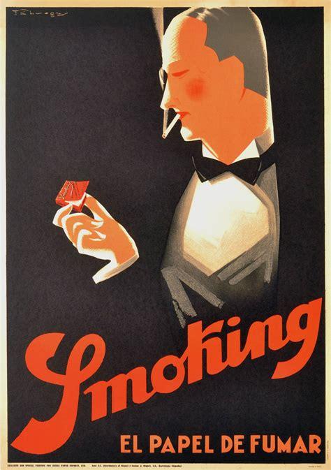 deco posters original original vintage deco poster for el papel de fumar cigarette paper from a unique