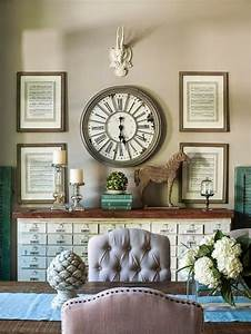 Like the idea of a wall clock surrounded by framed sheet