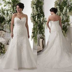 elegant plus size wedding dresses bodice applique lace With elegant plus size wedding dresses