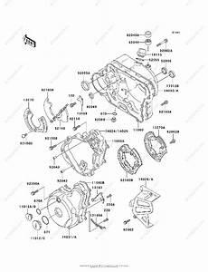 Kawasaki Motorcycle 1999 Oem Parts Diagram For Engine