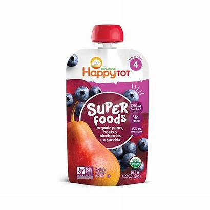 Happy Tot Pouch Pear Pears Foods Blueberries
