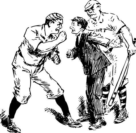 Clipart - Baseball dispute