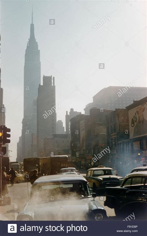 Street Scene Empire State Building New York America
