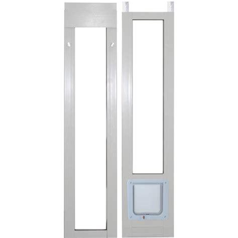 ideal modular aluminum patio pet door cat flap white