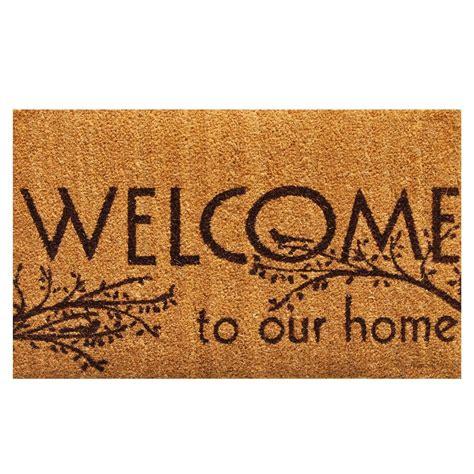 fall doormat home more welcome 17 in x 29 in coir door mat