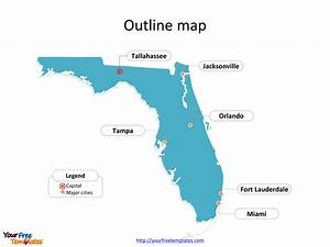 Florida map PowerPoint templates - Free PowerPoint Templates