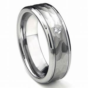 tungsten carbide diamond hammer finish newport men39s With tungsten diamond wedding rings