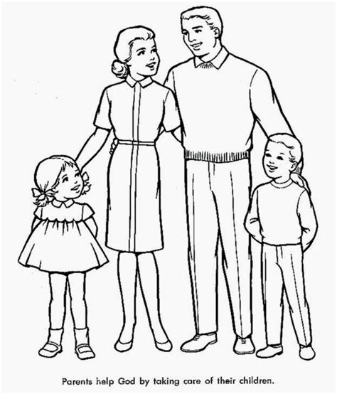 family coloring sheets  coloring sheet