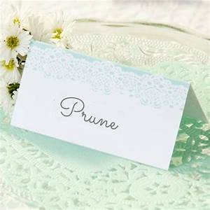 Marque Place Fait Maison : decoration de table marque place dentelle mint ~ Preciouscoupons.com Idées de Décoration