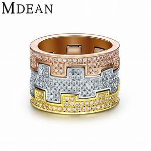White Gold Plated Rings for women wedding ring engagement ...