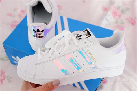Holographic Adidas Superstar Shoes ♡ Haul/review