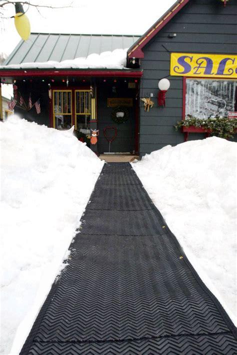 heated sidewalk mat heattrak snow melting sidewalk mat outdoor heated