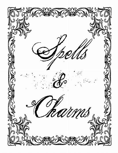 Pages Shadows Coloring Spells Witch Printable Charmed