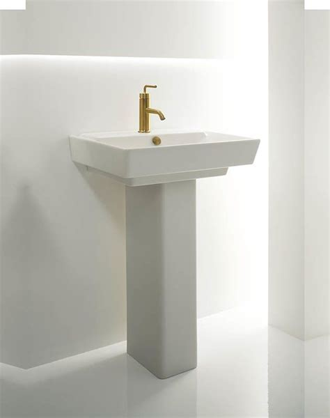 Kohler Reve Pedestal Sink by Faucet K 5152 1 0 In White By Kohler