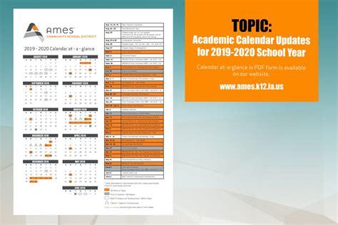 academic calendar updates ames community school district