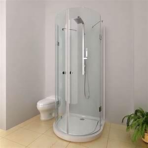 Duschwanne Oder Geflieste Dusche : dusche duschkabine halbrund halbkreis inkl duschtasse duschwanne 90x90 8mm esg ebay ~ Sanjose-hotels-ca.com Haus und Dekorationen