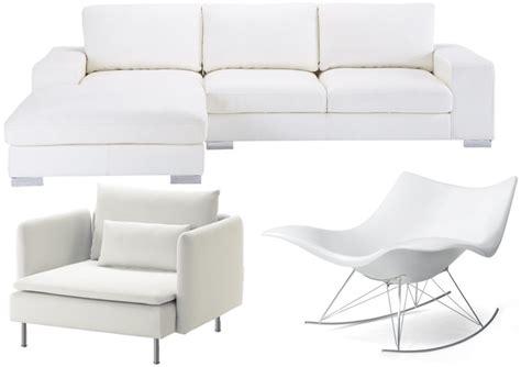 canapé convertible design pas cher canapé blanc et fauteuil blanc 25 modèles à prix doux
