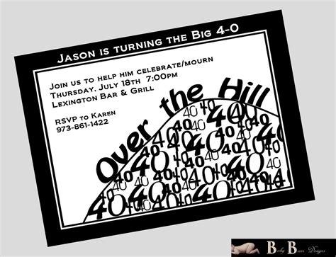 Free Printable 40th Birthday Invitations Cards