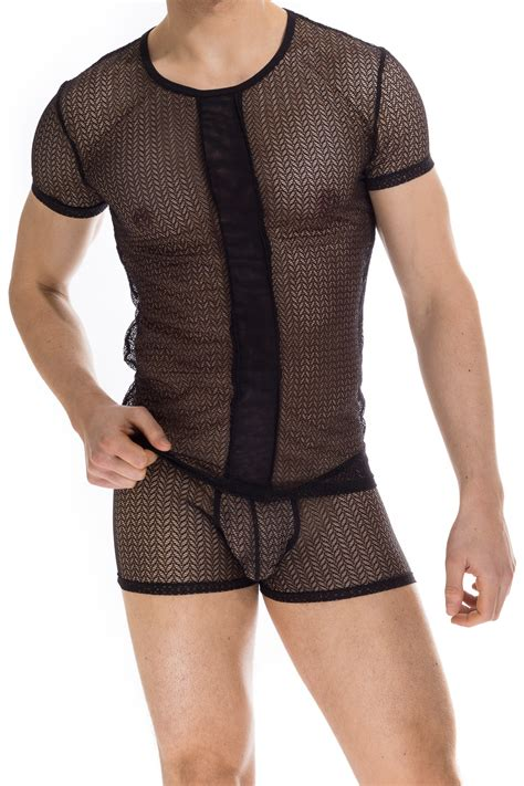 VIRIDIOS T shirt, Men's Erotic Tshirt in lace by L'HOMME INVISIBLE