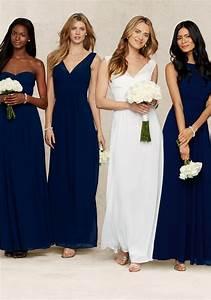 Robe Bleu Demoiselle D Honneur : robes bleu marine pour les demoiselles d 39 honneur avec courbes flatteuses finitions ruch es et ~ Dallasstarsshop.com Idées de Décoration