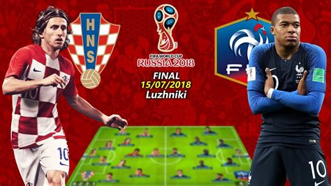 Fifa World Cup Final France Croatia Lineups