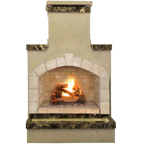Cal Flame 48 In Propane Gas Outdoor Fireplace In