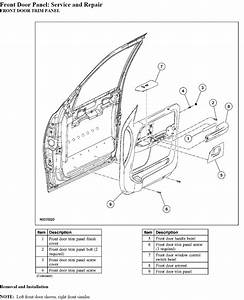Service Manual  How To Remove Door Panel 2003 Ford