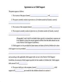 Child Support Agreement Form