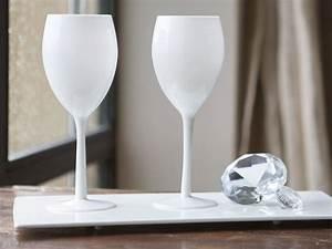 Verre A Vin Alinea : verre a pied opaque blanc ~ Teatrodelosmanantiales.com Idées de Décoration