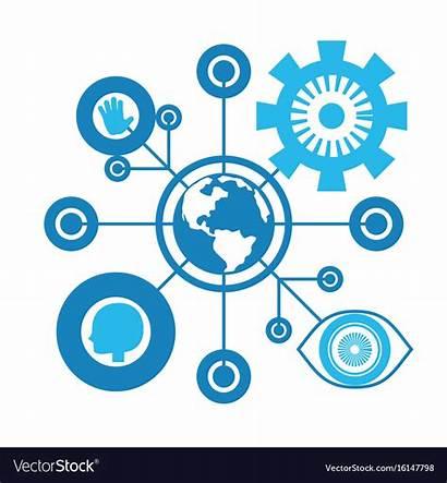 Future Connection Vector Technology Digital Virtual