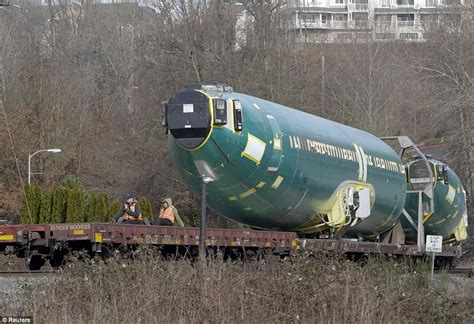 Boeing 737 fuselages arrive at firm's Seattle factory to ...