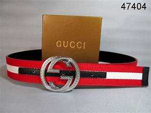 Gucci Belt Silver Interlocking G Buckle red black white ...