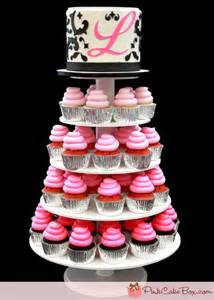 sweet 16 ombre cupcake stand pink cake box