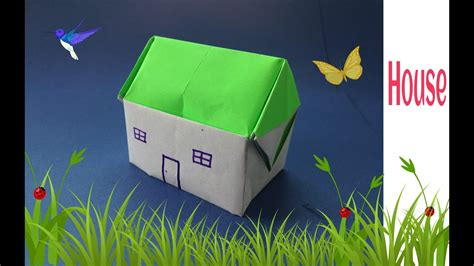 origami paper house  youtube