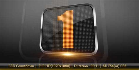 15 Countdown After Effects Project Files And Templates