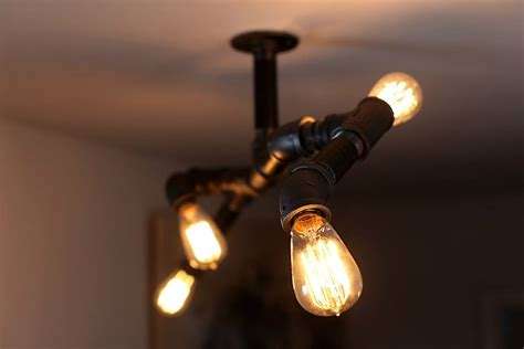 iron pipe light fixture diy steunk style iron pipe edison fixture unmaintained