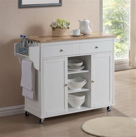 modern white lacquered kitchen cart center island storage