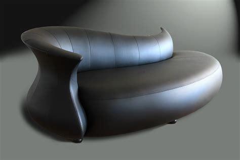 FURNITURE: Futuristic Furniture With Awesome Black Leather