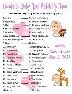 Crazy Quiz Baby Shower Celebrity Baby Names Games Baby