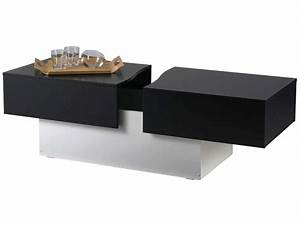 Table De Salon Alinea : table basse city box coloris noir blanc vente de table ~ Dailycaller-alerts.com Idées de Décoration