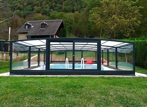 abri haut piscine poolabri abri piscine mi haut telescopique mixte